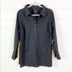 Talbots black dress shirt 16w euc